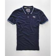 Superdry Tipped Collar Polo-Shirt L marineblau