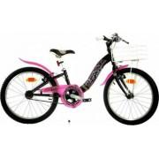 Bicicleta copii 20inch DINO BIKES Barbie Negru cu roz