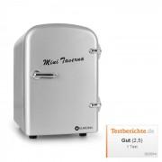 Bella Taverna frigorífico congelador/ caixa térmica mini 4 litros em cor prateado