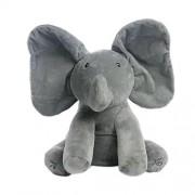 Rosiest Elephant Baby Soft Plush Toy Singing Stuffed Animated Animal Kid Doll Gift-Gray