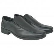 vidaXL Férfi félcipő fekete 43-mas méret PU bőr