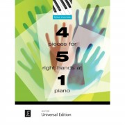 Universal Edition 4 Pieces for 5 Right Hands at 1 Piano Mike Cornick