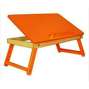 onlyyes-ST-R-02P- kids study table/desk/ adjustable,foldable (reading & writing,craft work,eating,painting,drawing) laptop desk table for bed (orange)