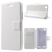 Кожен калъф за Lenovo Vibe K5 / А6020 - бял