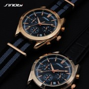 2017 SINOBI Military Spy Men Wrist Watches Chronograph leather watchband Top Luxury Brand Sports Male Geneva Quartz Clock 007