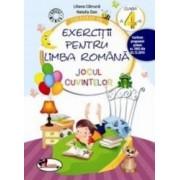 Culegere de exercitii pentru limba romana cls 4 Jocul cuvintelor - Liliana Catruna