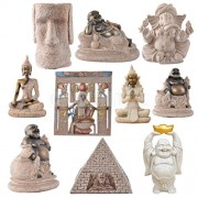 ELECTROPRIME® Hand Carved Happy Maitreya Buddha Sandstone 3D Carving Chinese Statue #1