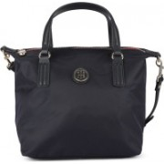 Tommy Hilfiger Women Casual Blue Synthetic Fabric Tote
