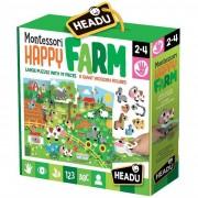Headu puzzle montessori happy farm it20102