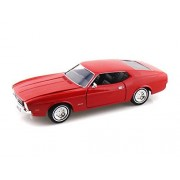 Motor Max 1971 Ford Mustang Sports roof, Red - Motormax Premium American 73327 1/24 Scale Diecast Model Car