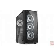 "Sharkoon TG5, no PSU, 1x3.5"", 2x2.5"", USB3.0, ATX Midi Tower, Tempered glass side panel, White"