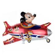 Balon cu Mickey Mouse în avion