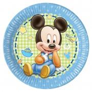 Miki Maus - Baby tanjir kartonski 1/8 23 cm