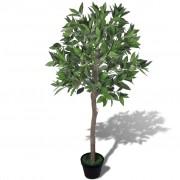 vidaXL Изкуствено Лаврово дърво в саксия 120 см