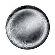 Alessi Plateau Veneer / Ø 42 cm - Acier avec motifs en relief - Alessi acier poli en métal