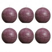 Bolsius Сферични свещи, 80 мм, цвят лилав - комплект 6 броя