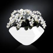 Aranjament floral VENEZIA IN SHINY VASE, alb