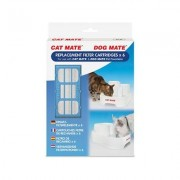Cat Mate Replacement Filter Cartridges for Cat Mate and Dog Mate Fountains, 6 count