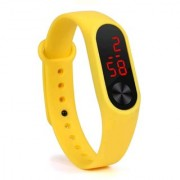 FARP Digital LED Watch yellow colour band type mens watch womens watch boys watch girls watch
