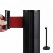 Jansen Display Bariéra černá, 2,7m výsuvný pásek červený červená