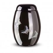 Zwarte Glasfiber Urn Vlinders (3.7 liter)