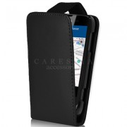 Nokia Lumia 510 Flip Калъф Черен + Протектор