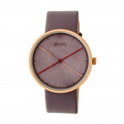 Simplify The 4100 Leather-Band Watch - Rose Gold/Purple SIM4105