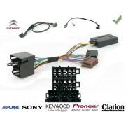 COMMANDE VOLANT CITROEN C3 2009- - Pour JVC complet avec interface specifique