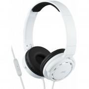 Casti audio JVC HA-SR525-W, tip DJ, cu telecomanda si microfon pe fir, Alb