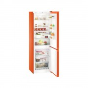 Combina frigorifica Liebherr CNno 4313, 304 L, No Frost, Display, Control electronic, Raft sticle, Alarma usa, H 186.1 cm, A++, Portocaliu