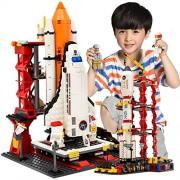 Metro Toys GUDI 8815 Assembly Building Blocks Compatible Lego City Space Shuttle Launch Center Model Blocks DIY Bricks Toys for Children