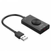 Orico SC2 External USB Sound Card with Volume Control - Black