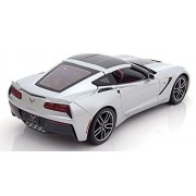 1:18 EXCLUSIVE - 2014 CHEVROLET CORVETTE STINGRAY Z51 DIECAST 38132SIL BY MAISTO