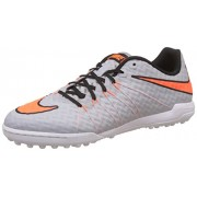 Nike Men's Hypervenomx Finale Tf Grey and Orange Football Boots - 6 UK/India (40 EU)(7 US)