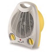 Aeroterma electrica TV EC alb cu galben, 2 trepte 1000-2000W, ventilatie si incalzire