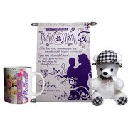 mothers day gifts - Mother Scroll Greeting Card,Coffee Mug, Soft Teddy