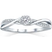 Silvego Stříbrný prsten s krystaly Swarovski FNJR085sw 52 mm