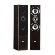 Auna L766 3-посочни басови рефлексни HiFi високоговорители, чифт, орехов цвят (Jo-L766-WA)
