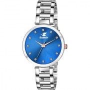 Espoir Analog Stainless Steel Blue Dial Girl's and Women's Watch - DiamondBlueManisha