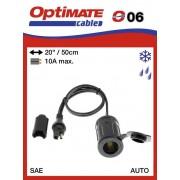 Tecmate/Accumate O-06 (SAE-76) Vízálló 12V-s szivargyújtó aljzat
