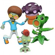 Diamond Select Toys Plants vs. Zombies: Peashooter vs. Browncoat Disco Zombie Select Action Figure (2 Pack)