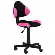 IDIMEX Chaise de bureau pour enfant ALONDRA, noir/rose