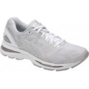 Asics GEL - NIMBUS 19 - GLACIER GREY/SILVER/WHITE Running Shoes For Men(Grey)