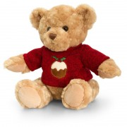 Ursulet traditional cu pulover Keel Toys, 25 cm, 3 ani+