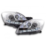 FK-Automotive Phares Daylight pour Toyota Yaris Vios An: 08- chrome