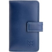 Dudu Women Casual Blue Genuine Leather Wallet(12 Card Slots)