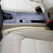 2 stuks leren autostoel gap filler, afmeting: 45x7x4.5cm (beige)