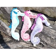 Pastel Colored Plush Toy Seahorse Set Set Of 3 Hanging Stuffed Seahorses
