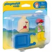 Комплект Плеймобил 6961 - Работник с ръчна количка, Playmobil, 291300