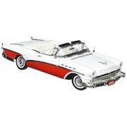 1957 Buick Roadmaster Convertible in Blue & White Diecast 1:18 Scale limited Edition by Motor Max 2005